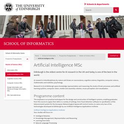 Artificial Intelligence MSc