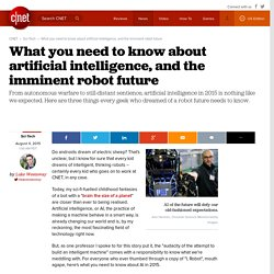 What you need to know about artificial intelligence, and the imminent robot future