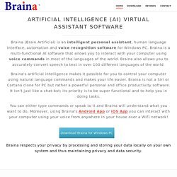 Braina - Artificial Intelligence Software for Windows