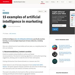 15 examples of artificial intelligence in marketing