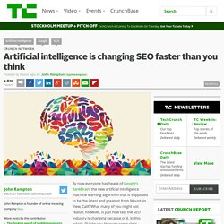 Artificial intelligence is changing SEO faster than you think