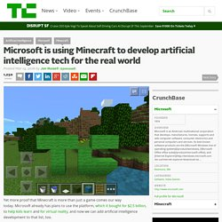 Microsoft is using Minecraft to develop artificial intelligence tech for the real world