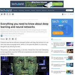 Artificial intelligence: What is deep learning?