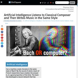 33rd Square: Artificial Intelligence Listens to Classical Composer and Then Writes Music in the Same Style
