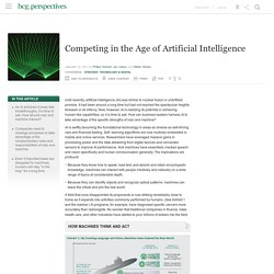Competing in the Age of Artificial Intelligence