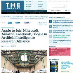 Apple to Join Microsoft, Amazon, Facebook, Google in Artificial Intelligence Research Alliance
