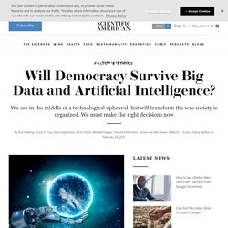 Will Democracy Survive Big Data and Artificial Intelligence?