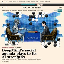 Demis Hassabis plays to DeepMind's strengths by using artificial intelligence for social impact