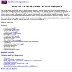 Theory and Practice of Symbolic Artificial Intelligence