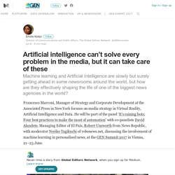 Artificial intelligence can't solve every problem in the media, but it can take care of these