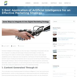 Various Ways to Engage Artificial Intelligence in Digital Marketing Strategy