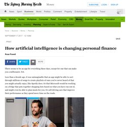 How artificial intelligence is changing personal finance
