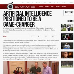 Artificial intelligence positioned to be a game-changer