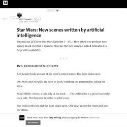 Star Wars: New scenes written by artificial intelligence