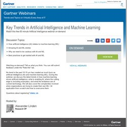 Key Trends in Artificial Intelligence and Machine Learning