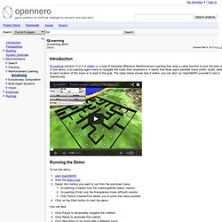 QLearning - opennero - Q-Learning demo - game platform for Artificial Intelligence research and education