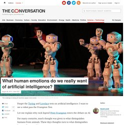What human emotions do we really want of artificial intelligence?