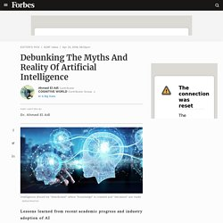 Debunking The Myths And Reality Of Artificial Intelligence