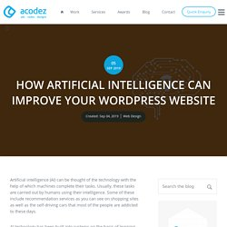 How to Improve WordPress Site With Artificial Intelligence?
