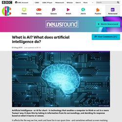 What is AI? What does artificial intelligence do? - CBBC Newsround