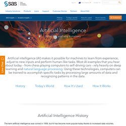 Artificial Intelligence – What it is and why it matters