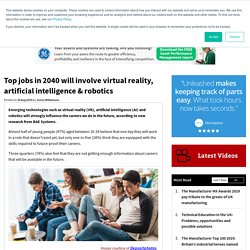 Top jobs in 2040 will involve virtual reality, artificial intelligence & robotics