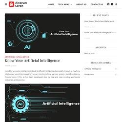 Know Your Artificial Intelligence - Altorum Leren