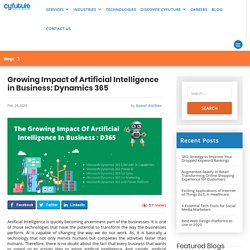 The Impact of Artificial Intelligence in Business: Dynamics 365