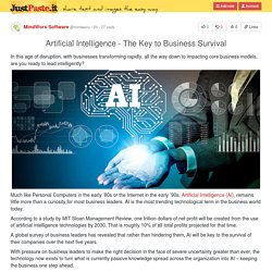 Artificial Intelligence - The Key to Business Survival