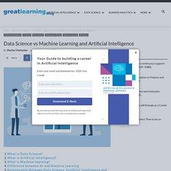 Data Science vs Machine Learning