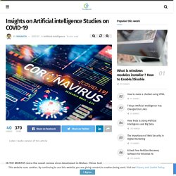 Insights on Artificial intelligence Studies on COVID-19