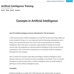 Concepts in Artificial Intelligence – Artificial Intelligence Training