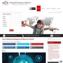Top Six Artificial Intelligence (AI) Platforms of 2020