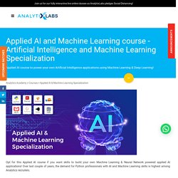 Artificial Intelligence and Machine Learning (ML)