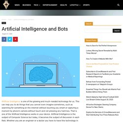 Artificial Intelligence and Bots