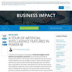 A Tour of Artificial Intelligence Features in Power BI