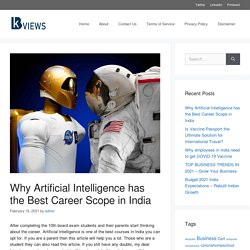 Why Artificial Intelligence has the Best Career Scope in India - kbviews