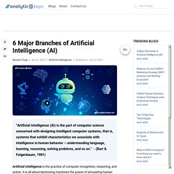 6 Major Branches of Artificial Intelligence (AI)