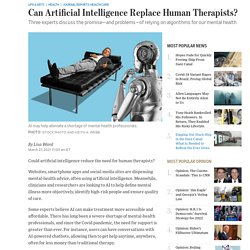Can Artificial Intelligence Replace Human Therapists?