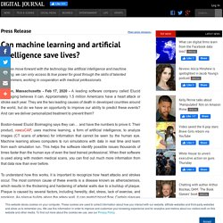 Can machine learning and artificial intelligence save lives?