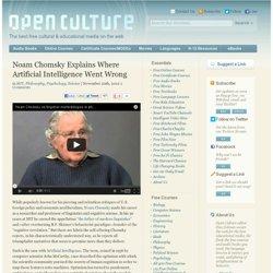 Noam Chomsky Explains Where Artificial Intelligence Went Wrong