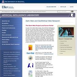 Dark Web Terrorism Research : Research : Artificial Intelligence Laboratory : Eller College of Management : The University of Arizona