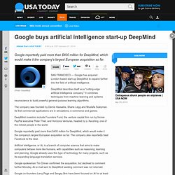 Google buys artificial intelligence start-up DeepMind