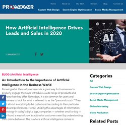 How Artificial Intelligence Drives Leads and Sales in 2020