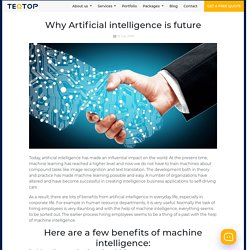 Why Artificial intelligence is future