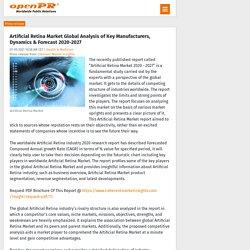 Artificial Retina Market Global Analysis of Key Manufacturers,