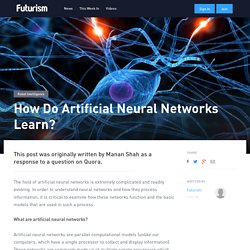 How Do Artificial Neural Networks Learn?