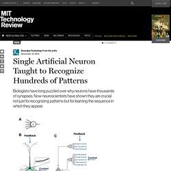 Single Artificial Neuron Taught to Recognize Hundreds of Patterns