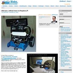 mBot plus: artificial vision via Raspberry Pi