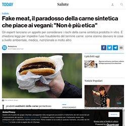 La carne artificiale fa bene o fa male?